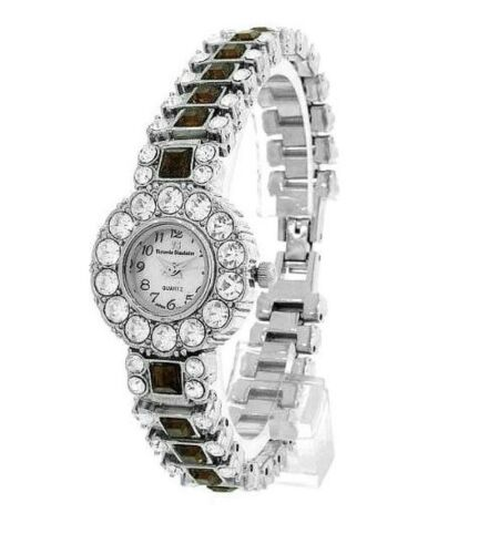 SHORT SALE - JUNE BIRTHSTONEl Mother of Pearl & Crystals Upscale Watch