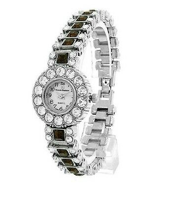 BEST GIFT  - NEW!  Gorgeous Mother of Pearl, Crystals, Elegant Watch in
