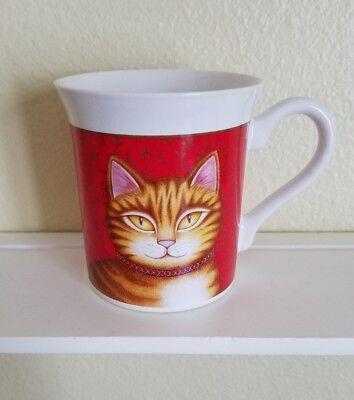 1987 Hallmark Cards Red Orange Tabby Cat Kitty Art Mug Cup Feline AWESOME Japan