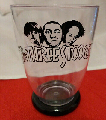 THE THREE STOOGES PLASTIC DRINKING GLASS NOS Cup -