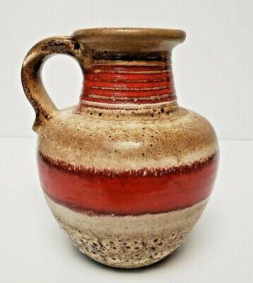 CARSTENS TONNIESHOF KERAMIK 7638-20 Fat Lava Vase Pitcher West Germany Pottery