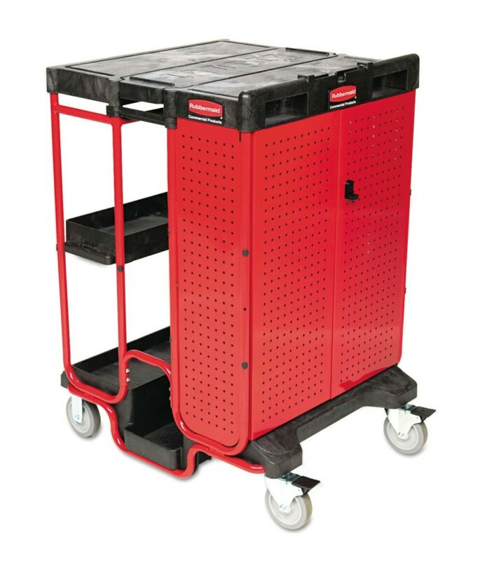 Rubbermaid Commercial 9T58 Ladder Cart with Cabinet