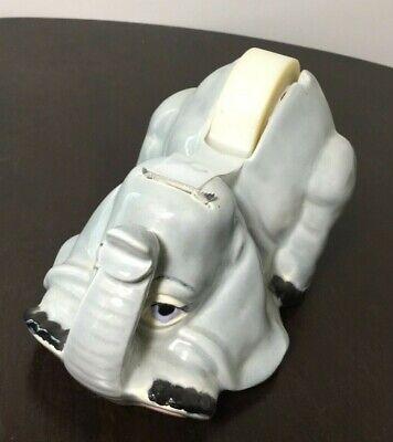 Vintage Ceramic Elephant Desktop Scotch Tape Dispenser