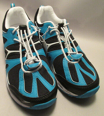 NWT Speedo Hydro Comfort 4.0 Womens sz 7 Blue & Black Water Shoes,Quick Drying