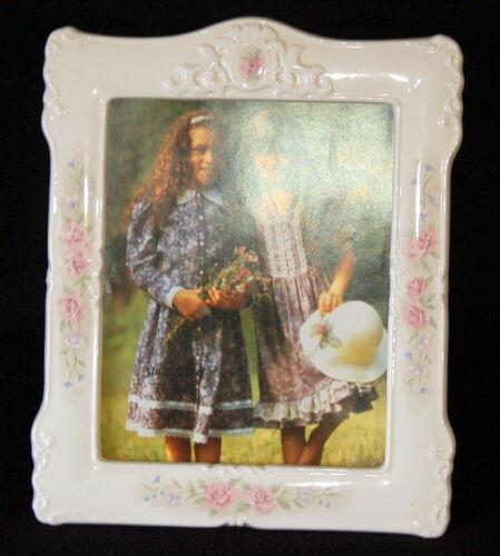 """Large Ceramic PHOTO FRAME ~ 8"""" x 10"""" Opening"""