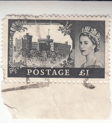 Great Britain 1967. £1 Windsor Castle - Queen Elizabeth II #528 (A133). Used