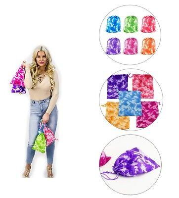 Tie-Dyed Camouflage Drawstring Bags Party Favors Arts & Crafts Activity Lot New (Party Activities)