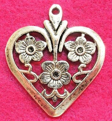 Подвески 5Pcs. Tibetan Silver Large HEART