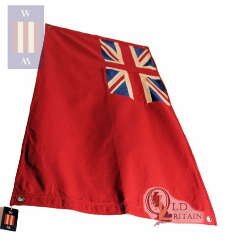 "British Red Ensign | Duster End Nautical Large Union Jack Flag 60 X 30"" Sewn"