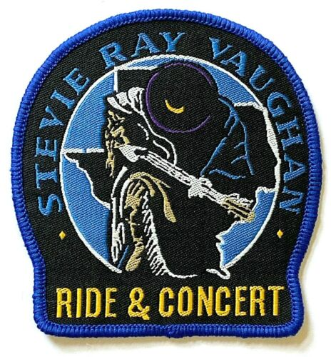 STEVIE RAY VAUGHAN  - Tribute Woven Patch Sew On Rare Aufnäher écusson Parche