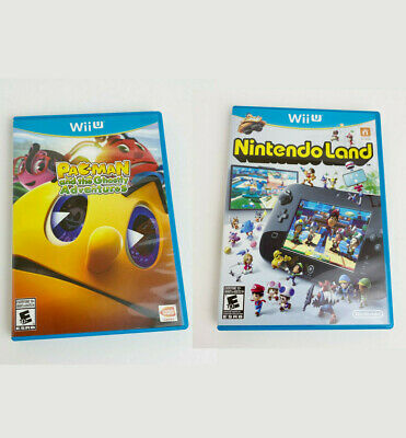 Nintendo Wii U Nintendo Land 2012 Complete / Pac-Man and the Ghostly Adventures