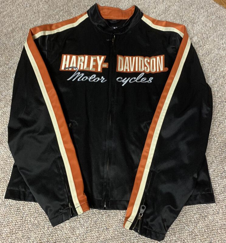 Harley Davidon Motorcycle Orange/Black Jacket LRG