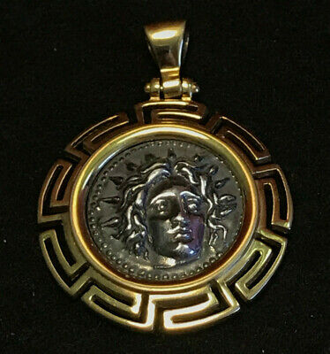 Gold Plated Pendant/Charm with Silver (900) Center Medallion Gold Plated Center