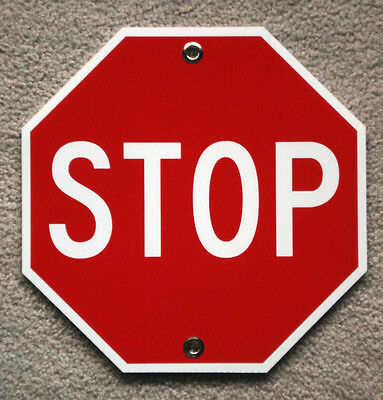 Stop Plastic Coroplast Sign 12x12 Octogan With Grommets