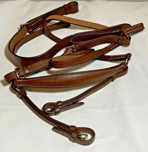 Vintage Brown Leather Stubben English Breast Plate Excellent! NOS