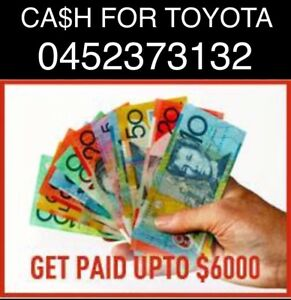CA$H FOR OLD TOYOTA CARS UTE VAN