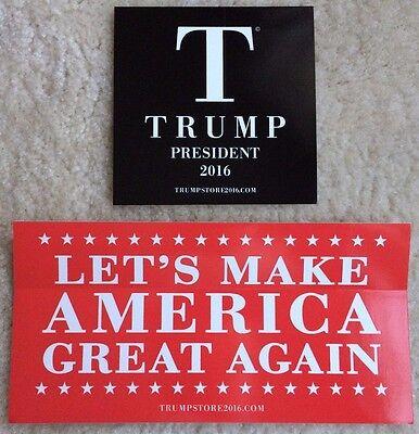 2 x Donald Trump Bumper Sticker President 2016 Official Make America Great Again