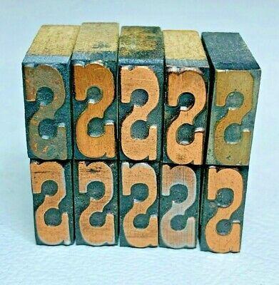 Set Of 10 Copper Letter S Letterpress Wood Print Block