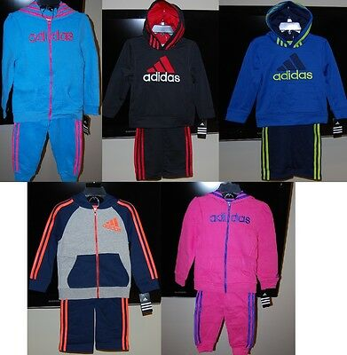 Adidas children hooded 2 piece active wear sets for boys and girls $54 price NWT