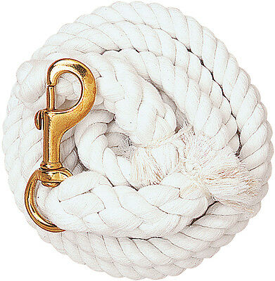 "WEAVER COTTON LEAD Soft Cotton 5/8"" Rope Length 10ft. White"