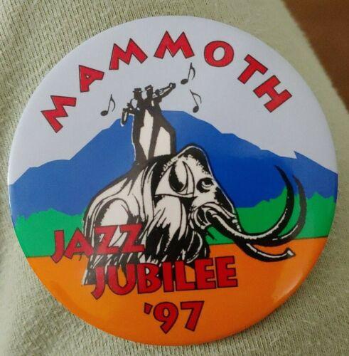 "Mammoth Jazz Jubilee 1997 Pinback Button mountain California 3"""