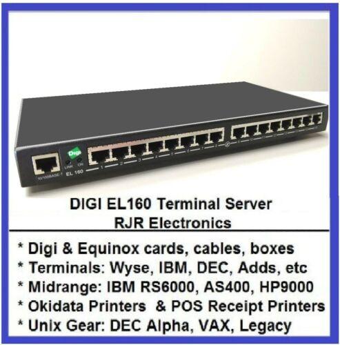 Digi EtherLite 160 EL160 70001528 W/O PWR SPLY 50000986-01 70001878 70001427