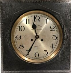 Antique French Cafe Wall Clock- With Modernist/Early Brutalist Carving