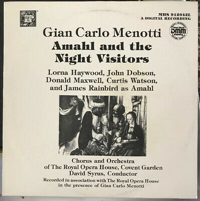Gian Carlo Menotti AMAHL And The NIGHT VISITORS MHS Teldec EXC LP