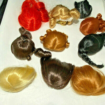 """WIGS for Madame Alexander Accessories MIX LOT #4 of 10 WIGS for 8"""", 10"""" Dolls"""