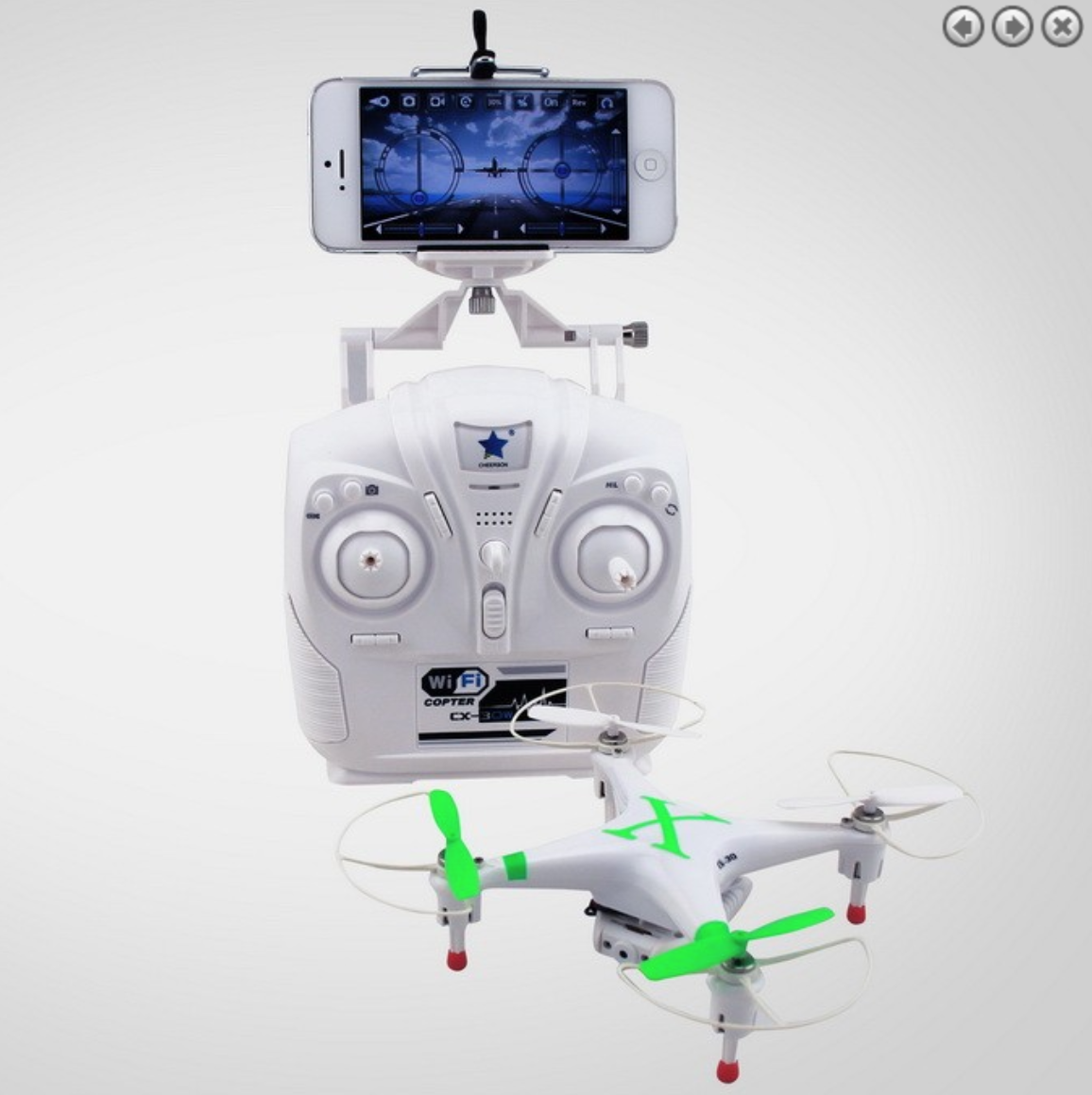 Cheerson CX-30W Wi-Fi FPV Quadcopter Green