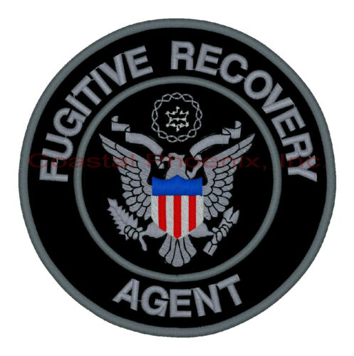 """Fugitive Recovery Agent Black & Gray Patch 10"""" #668"""