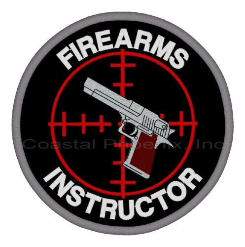 """Firearms Instructor Patch 10"""" #592"""