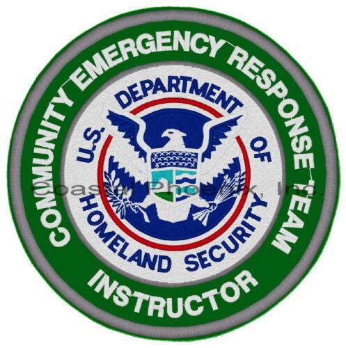 "CERT Community Emergency Response Team Instructor Patch 10"" #634"