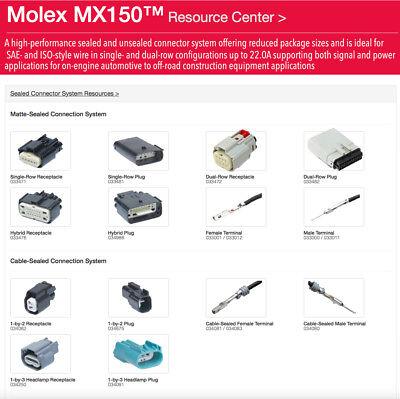 Molex Harley 2,3,4,6,8,12 16-Pin 20 Male OR Female MX150 connector + terminals 16 Pin Molex Connector