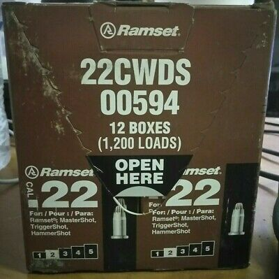 New Ramset 22cwds 2 Brown 22 Caliber