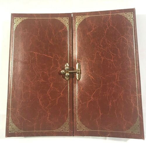 Photo Album Holds 200 4x6 Photos with Nice Gold Latch Closure Brown