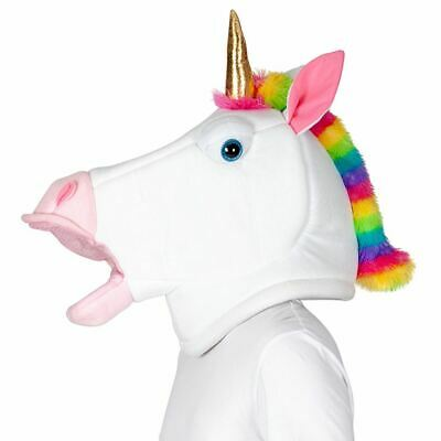 Adults Unicorn Jumbo Big Head Animal Fairytale Mascot Mask Fancy Dress Book Week - Fairytale Mask