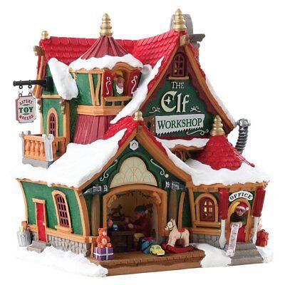 Lemax Christmas Village Building The Elf Workshop Christmas Gift # 75291