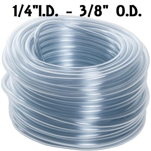 """5 FEET OF 1/4"""" TUBING HOSE FOR AUTOMATIC RABBIT NIPPLE DRINKERS WATERERS PVC"""