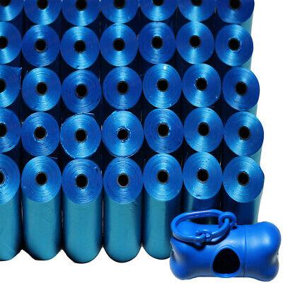 Dog Poop Bags for 1000 Unscented Blue Waste Scoop w/ Leash Dispenser