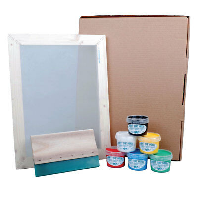 Hunt The Moon A3 Large Screen Printing Kit Frame Squeegee Ink Starter Value Pack