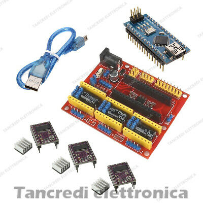 CNC Shield V4 + 3 driver DRV8825 + NANO V3.0 Expansion Board Arduino stepper