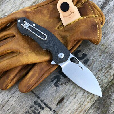 GIANT MOUSE ACE KNIVES BIBLIO CF HANDLE SATIN M390 STEEL FOLDING KNIFE.