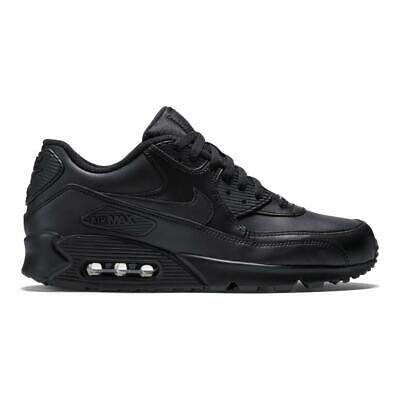 Nike Air Max 90 Black Leather 302519-001