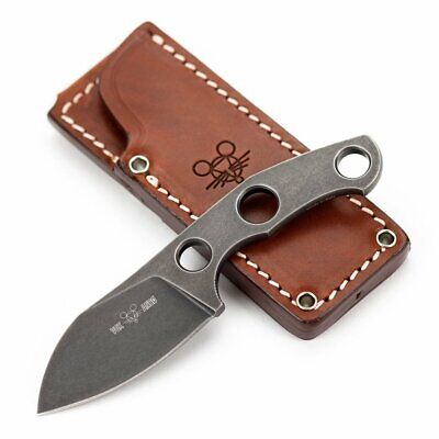 GIANT MOUSE ACE KNIVES GMF1-F M390 STEEL DARK PVD FIXED BLADE KNIFE WITH SHEATH