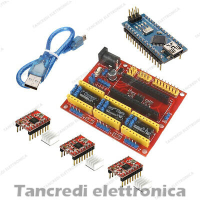CNC Shield V4 + 3 driver A4988 + NANO V3.0 Expansion Board Arduino stepper