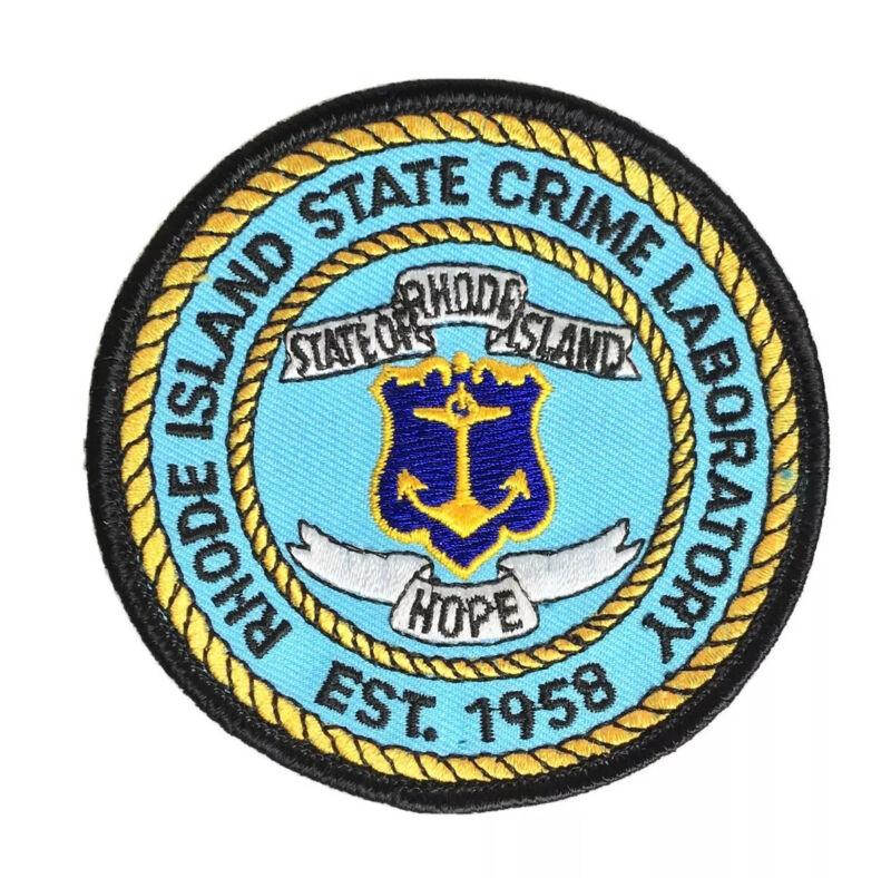 RHODE ISLAND STATE CRIME LAB PATCH RI OCEAN STATE