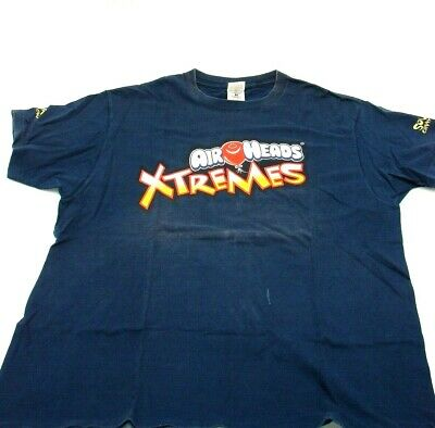 Airheads Extremes Mens XL Cotton Blue Tee T Shirt Balloon Crew Neck Candy FOTL - Airhead Extreme