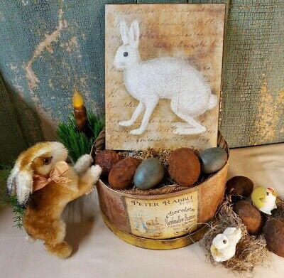 Easter Bunnies,Handmade  Pair Fabric stuffed Easter Bunnies,Pastel Easter Bunnies,Spring Bunnies,set of two Yellow Bunnies