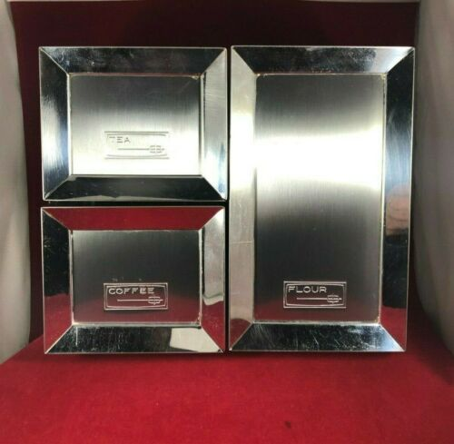 Vintage Mid Century Kramer-Maid Chrome Kitchen Canisters